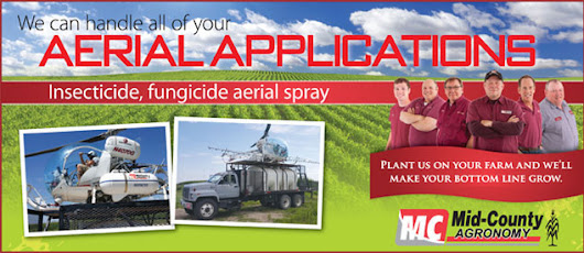 Aerial Applications – Insecticide, Fungicide Aerial Spray – Mid-County Coop
