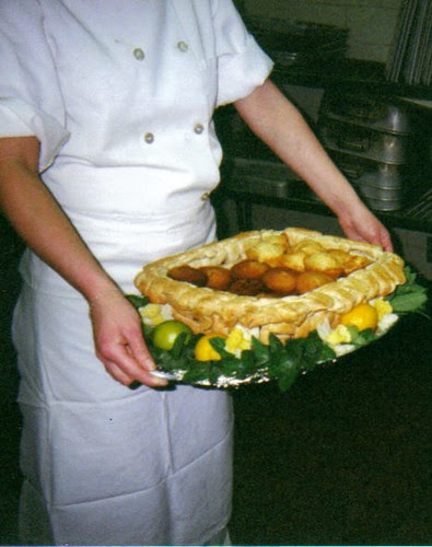 Basket I made using puff pastry dough..