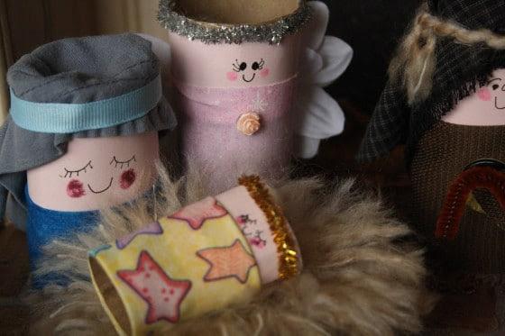 toilet roll nativity set - mary and baby jesus