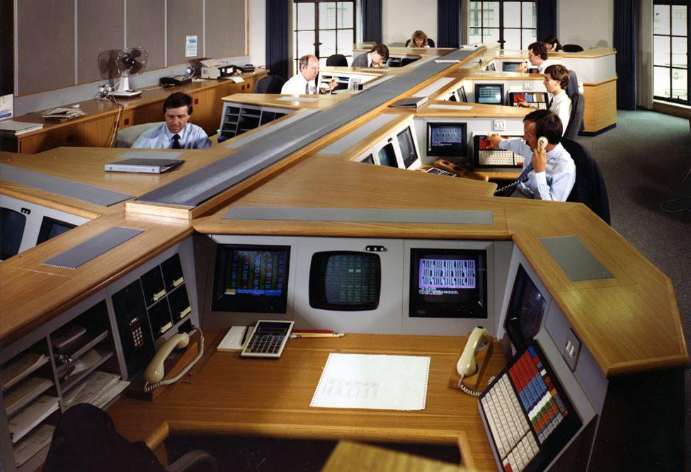 Bank of England Dealing Room, 1990s