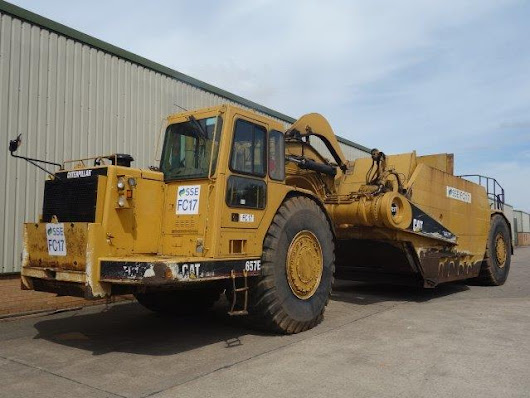 Caterpillar 657E Motor Scraper for sale Ex.MOD and NATO disposals