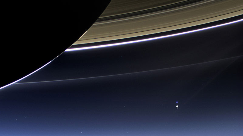 http://twistedsifter.com/2013/07/earth-from-dark-side-of-saturn/
