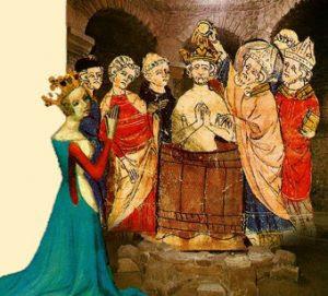 O batismo do Rei dos Francos, ministrado por São Remígio, constituiu marco decisivo para a conversão ao Cristianismo dos povos bárbaros que invadiram o Império Romano