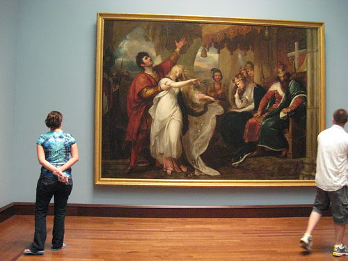 Anna & Cody looking at a huge painting