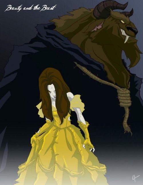 ベル 美女と野獣 もしもディズニープリンス達が敵だったら画像