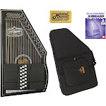 Oscar Schmidt OS73CE 1930's Reissue 21 Chord Autoharp with Pickup - Black W/Soft Case, OS73CE AC448PACK