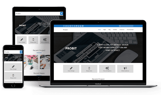 Probit – Free Responsive WordPress Theme