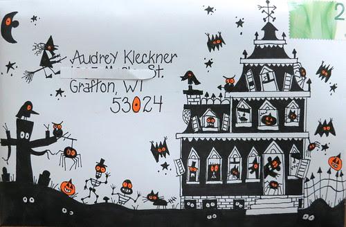 Halloween envelope to Audrey