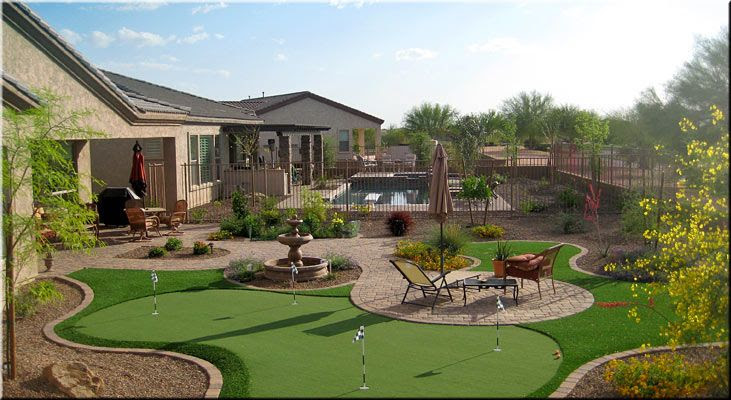 Arizona Backyard Putting Green Designs