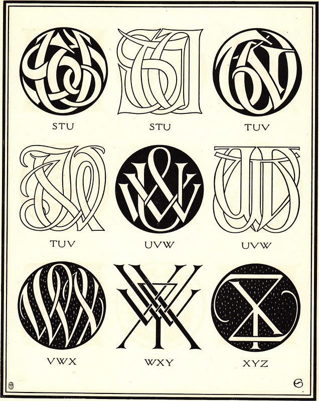 Monograms & Ciphers by AA Turbayne 1912 l