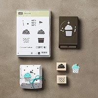 Cupcake Party Wood-Mount Bundle by Stampin' Up!
