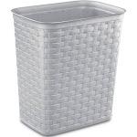 Sterilite - 10346A06 3.4 Gallon/13 Liter Weave Wastebasket, Cement