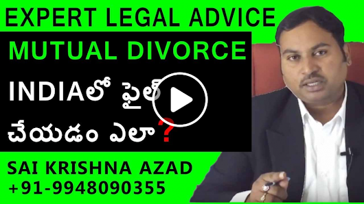 How To File Mutual Divorce In India | Divorce Lawyer In Hyderabad - 9948090355 | Law Media