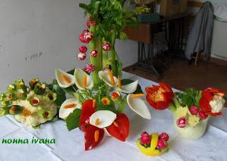 Cucinario di nonna ivana: DECORAZIONI in CUCINA con la verdura