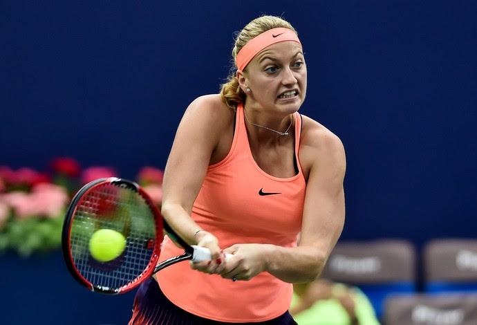 tênis Petra Kvitova Zhuhai (Foto: AFP)