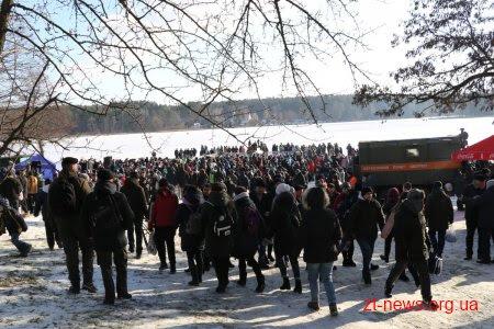 Як житомиряни святкували Водохреща у Гідропарку