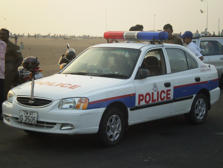 Chennai Police hyundai Accent patrol car