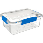 Ezy Storage IP67 Rated 12 Liter Waterproof Plastic Storage Tote with Lid, Clear at Spreetail (VMinnovations | VM Express)