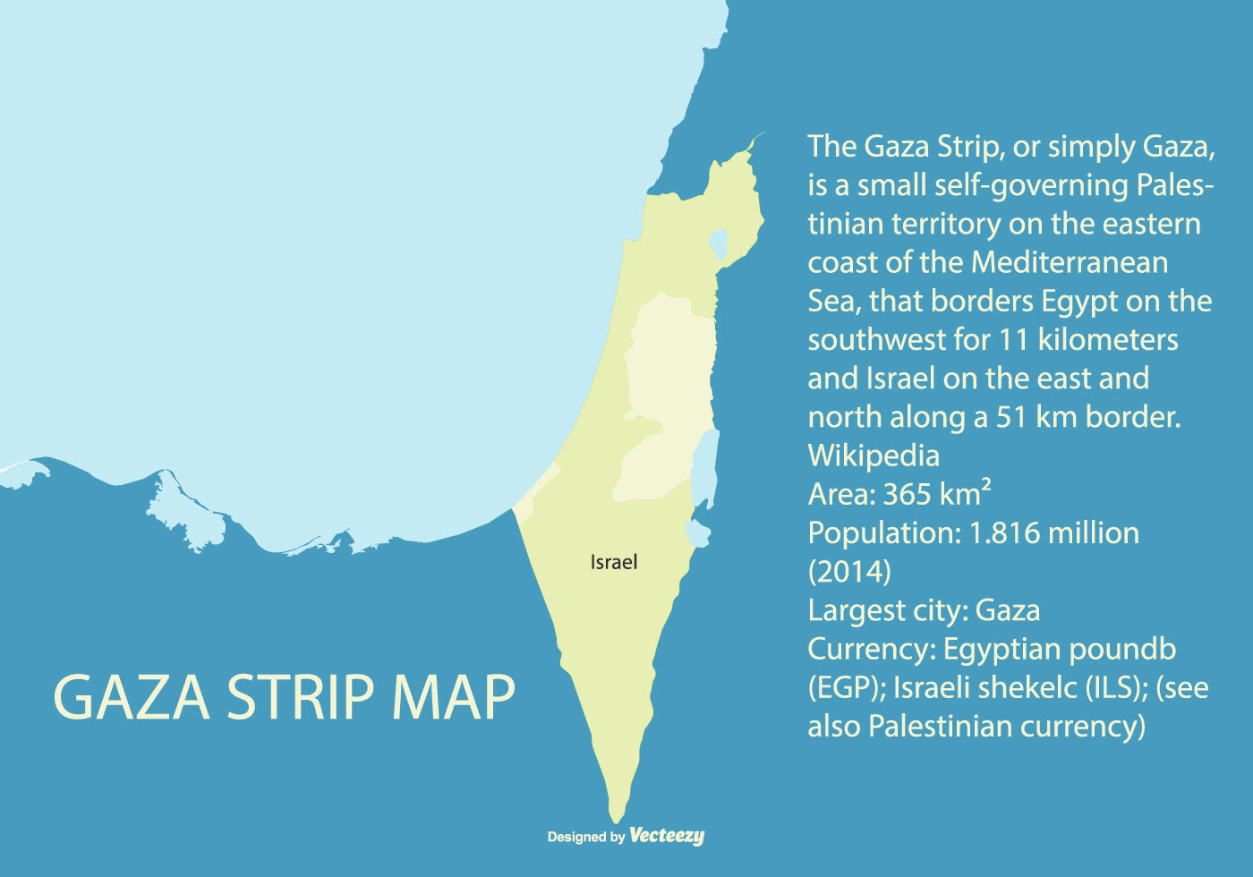 Map Of Palestine Highliting The Gaza Strip Download Free