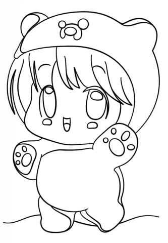 Dibujos De Anime Kawaii Para Colorear Imagesacolorier Website