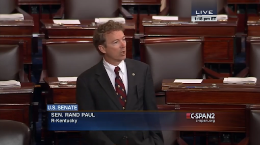"What was the effect of Rand Paul's 10-hour ""filibuster?"""