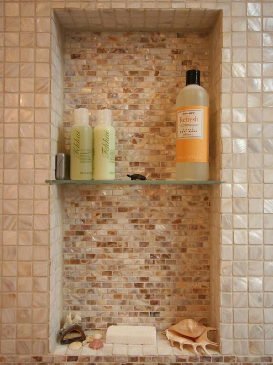 mother of pearl tile backsplash wall sticker shell mosaic ...