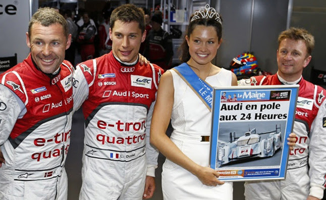 Audi captures pole at 24 Heures du Mans in 2013