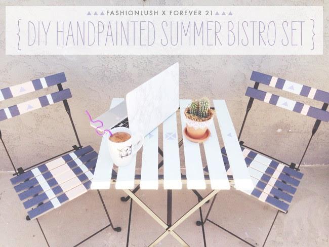 Fashionlush x F21: DIY Hand Painted Bistro Set | Fashionlush