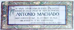 Imagen de Azulejo: Nace Antonio Machado