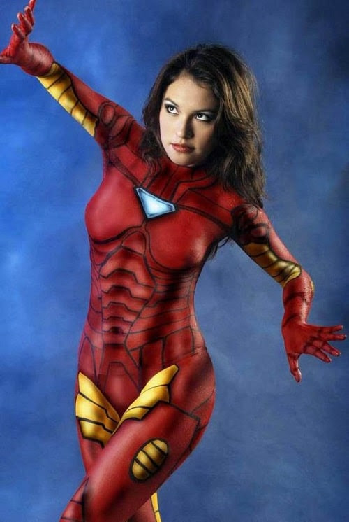 Iron Man Body Paint Design Inspiration