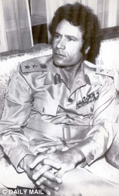 Charismatic: Colonel Muammar Gaddafi as a young man, shortly after seizing control of Libya in a military coup