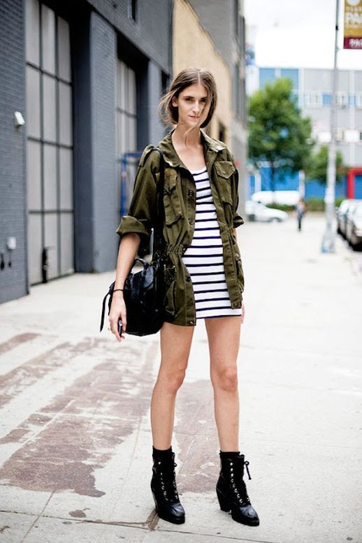 5 Le Fashion Blog 15 Ways To Wear A Green Army Jacket Model Style Daiane Conterato Striped Dress Boots Via Vanessa Jackman photo 5-Le-Fashion-Blog-15-Ways-To-Wear-A-Green-Army-Jacket-Model-Style-Daiane-Conterato-Striped-Dress-Boots-Via-Vanessa-Jackman.jpg