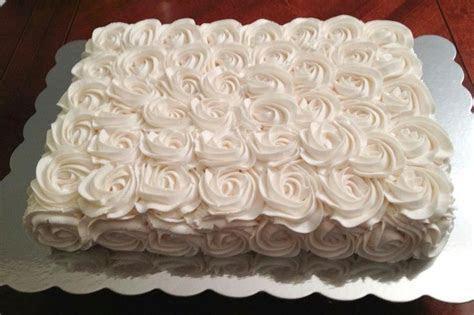 Cake Decorating: Buttercream Rosette Sheet Cake   cakes