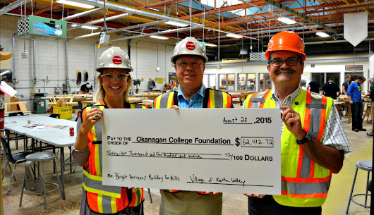 Donation Helps Construct New Carpentry Shop at Okanagan College