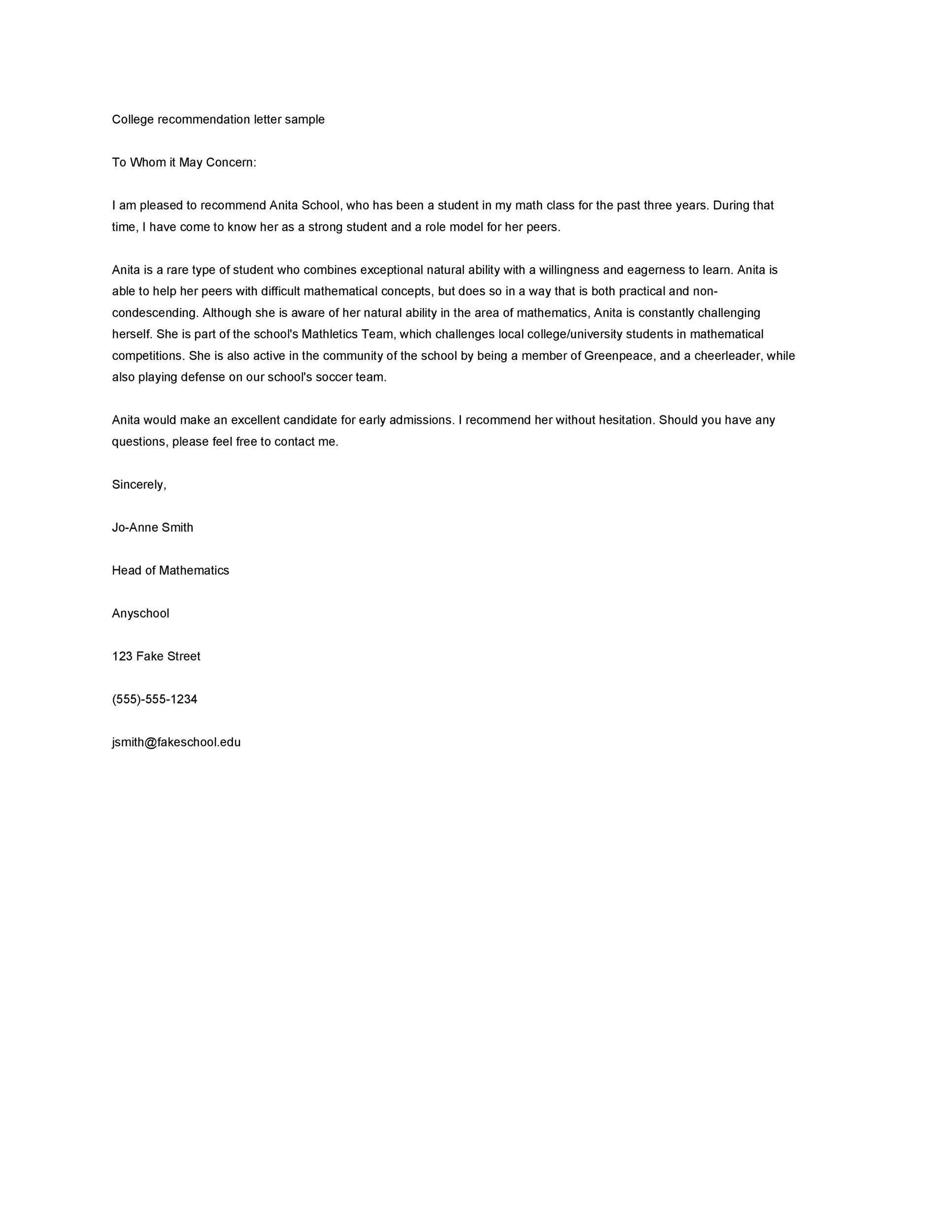 College Admissions Recommendation Letter Template from lh3.googleusercontent.com