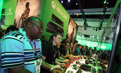 Xbox One at Microsoft s booth at E3 2013