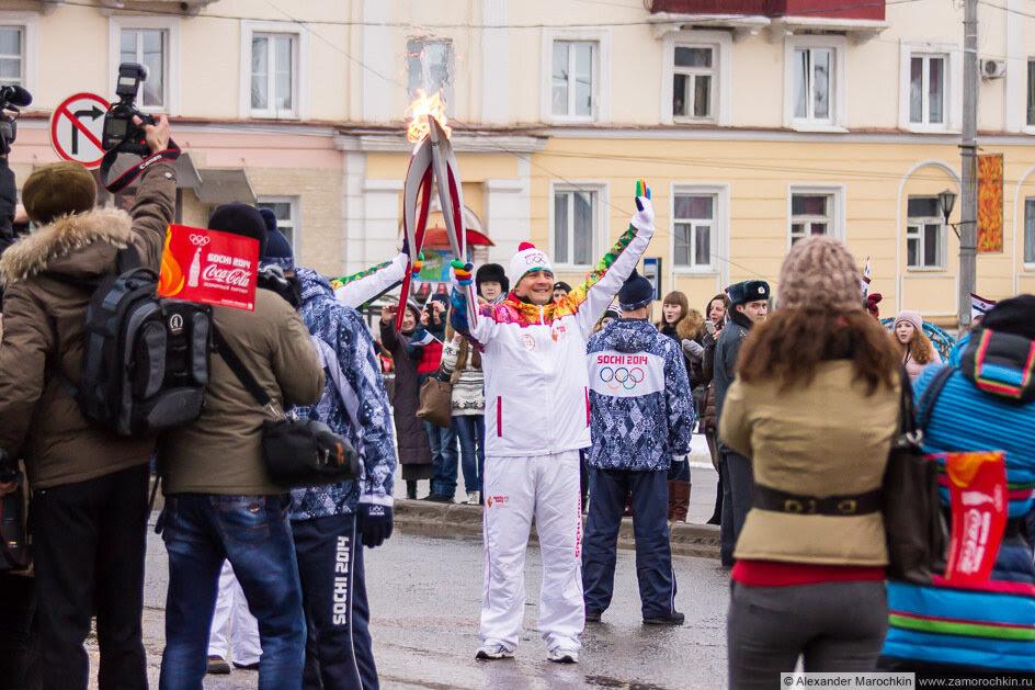 Передача эстафеты Олимпийского огня в Саранске