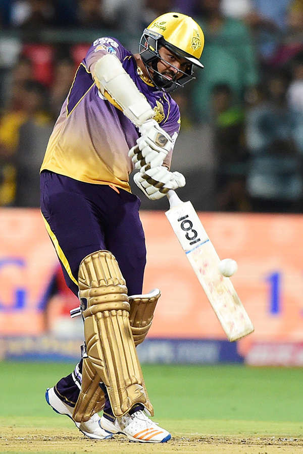 It was a surprise when Narine came out to open the batting ...