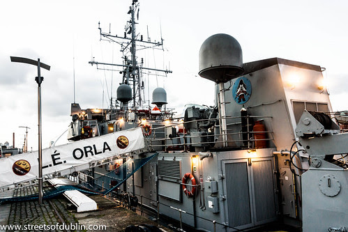 Dublin Docklands: L.É. ORLA was formally the HMS SWIFT by infomatique