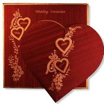 Romantic Styles For Wedding Cards   Hindu wedding project