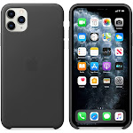 Brand New Apple iPhone 11 Pro Max Black Leather Case