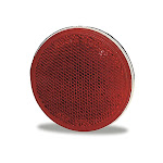 """Grote 40062 Reflector, 3"""", Red, Round Stick-On"""