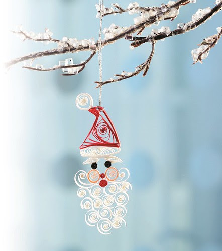 Quilled Santa ornament