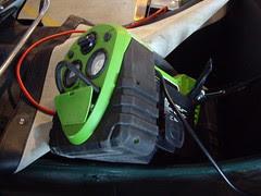 portable battery jumper and air compressor