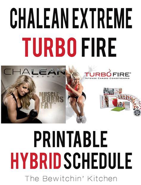 turbo fire chalean extreme hybrid schedule  jenelle
