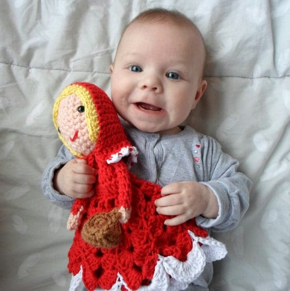 Little Red Riding Hood Lovey crochet amigurumi pdf pattern