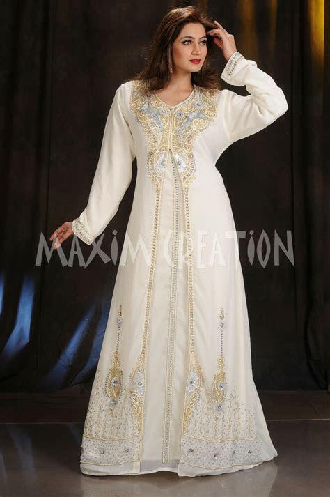 royal wedding gown party wear dubai moroccan kaftan