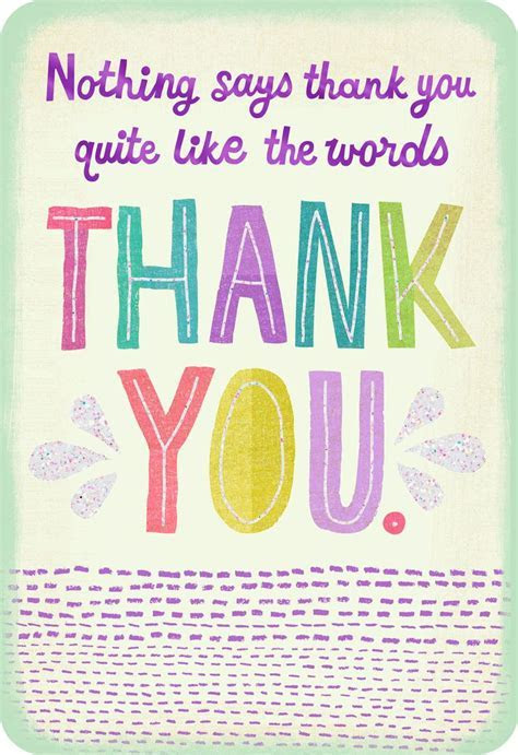 Colorful Letters Simply Said Thank You Card   Greeting
