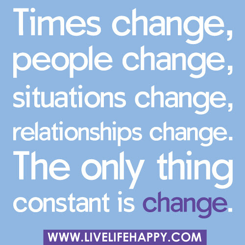 Times Change People Change Situations Change Live Life Happy