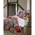 Greenland Rustic Lodge Multi Colored Quilt Set - King Multi